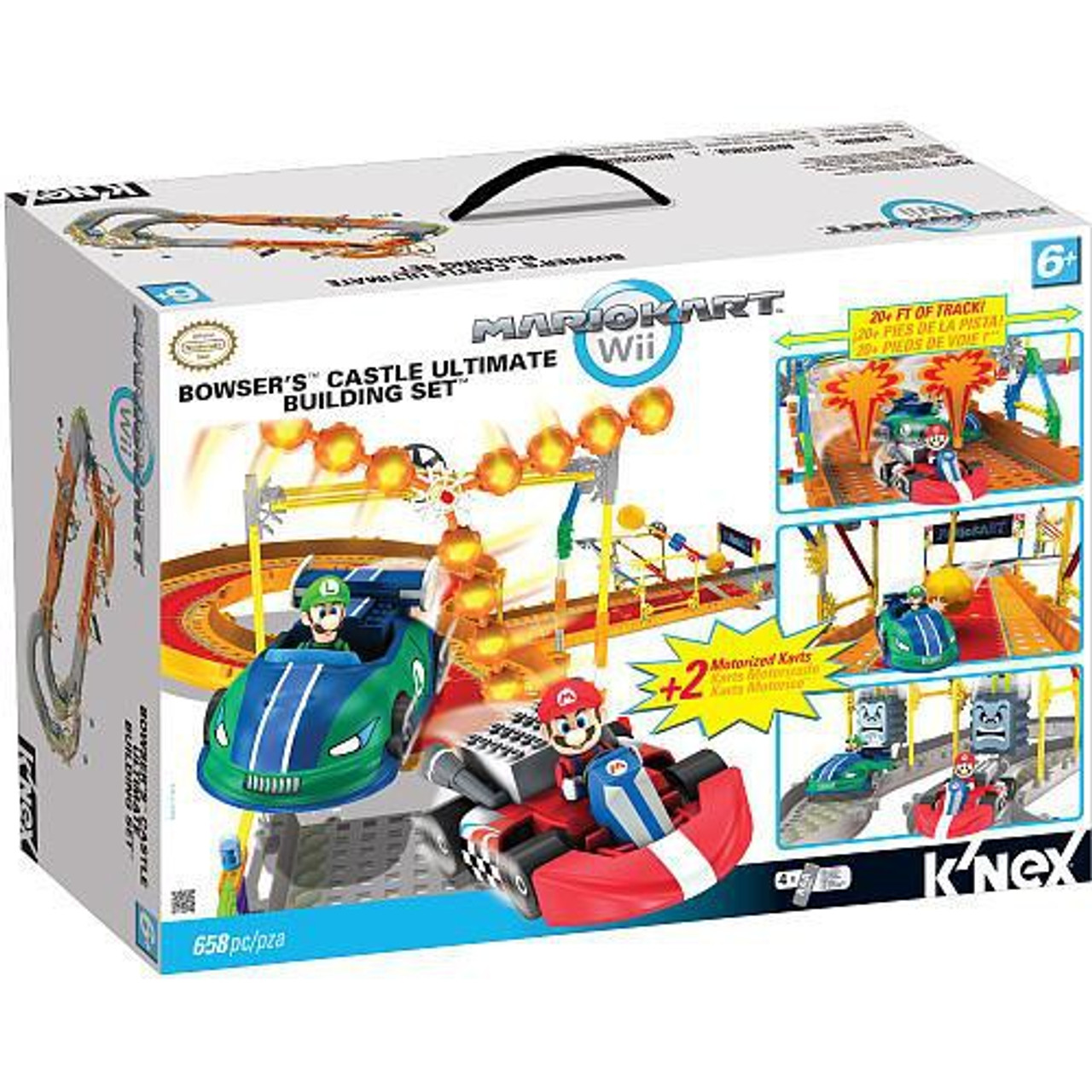 K Nex Super Mario Mario Kart Wii Bowser S Castle Ultimate Building Set Set 38437