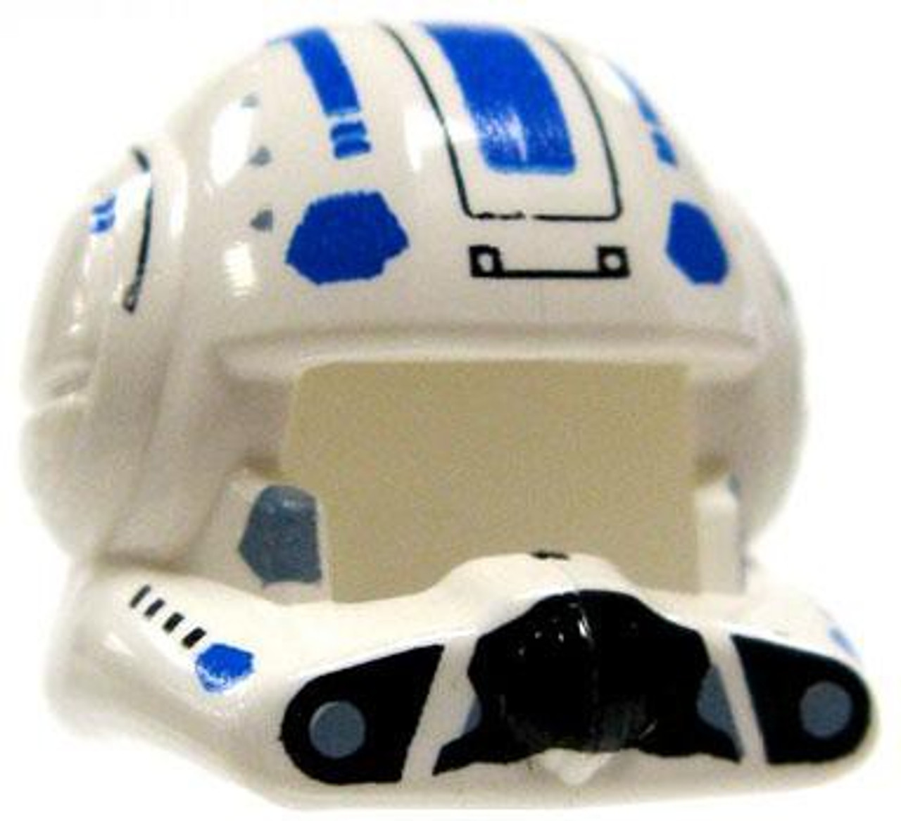 Clone Army Helmet Set Star Wars The Clone Wars Roblox Lego Star Wars The Clone Wars Headgear Clone Pilots Helmet With Open Visor Blue Markings Loose Toywiz