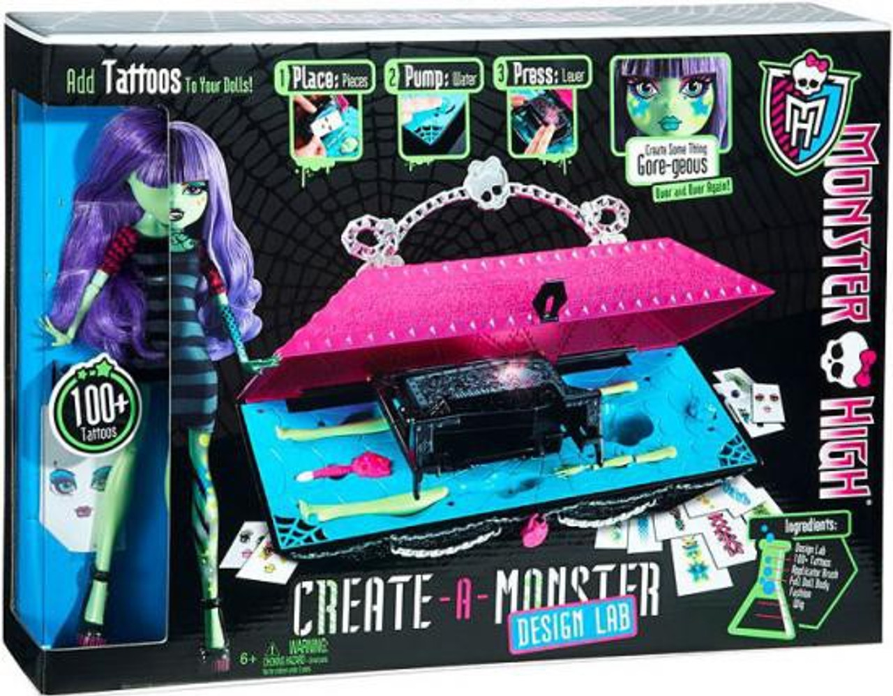 Monster High Create A Monster Design Lab Doll Set Mattel Toys Toywiz