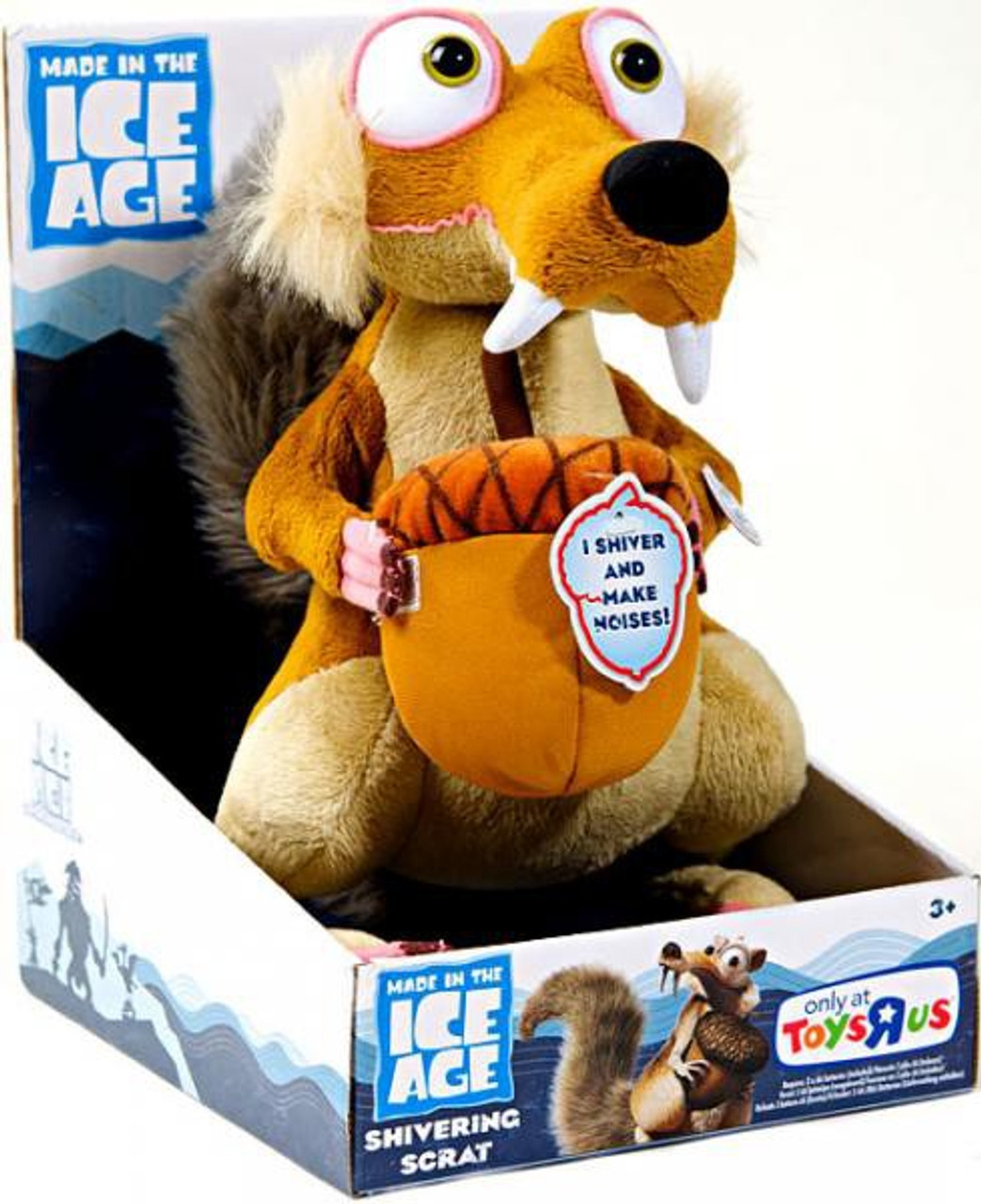 Ice Age Continental Drift Shivering Scrat Exclusive Plush Figure Tpf Toys Toywiz