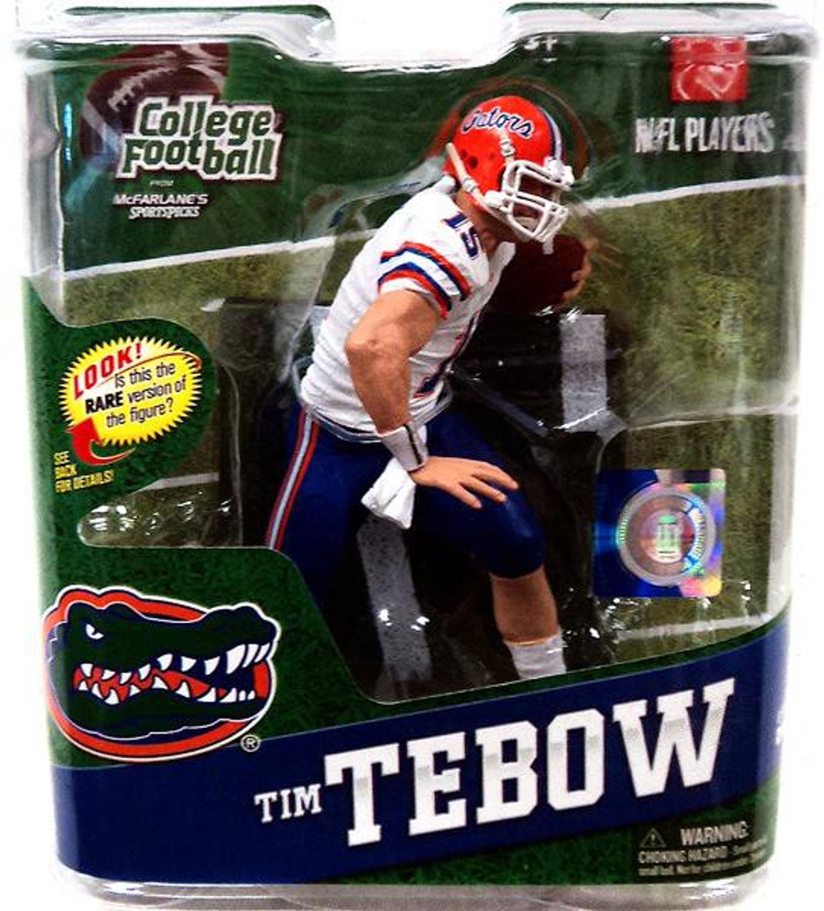 outlet store 7be47 213d3 McFarlane Toys NCAA Florida Gators College Football Series 4 Tim Tebow  Action Figure [White Jersey]