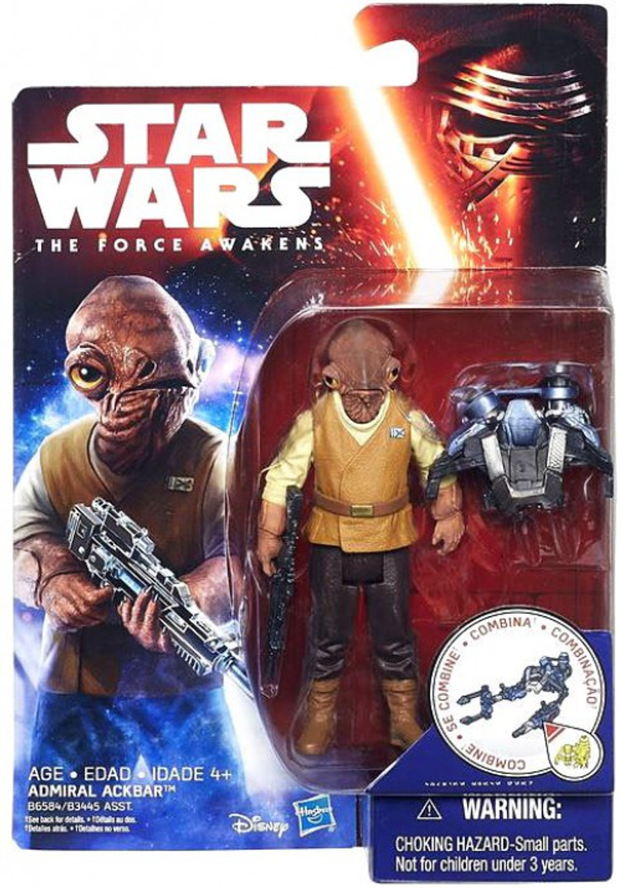 """Lot of 2 Star Wars The Black Series 3.75/"""" Finn and Admiral Ackbar Action Figures"""