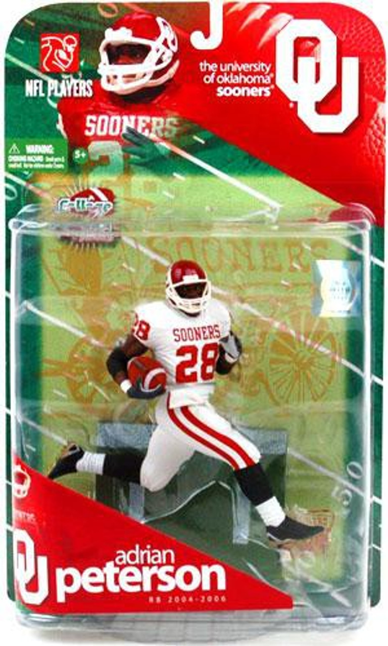 Mcfarlane Toys Ncaa College Football Sports Picks Series 1 Adrian Peterson Action Figure White Jersey Variant Toywiz