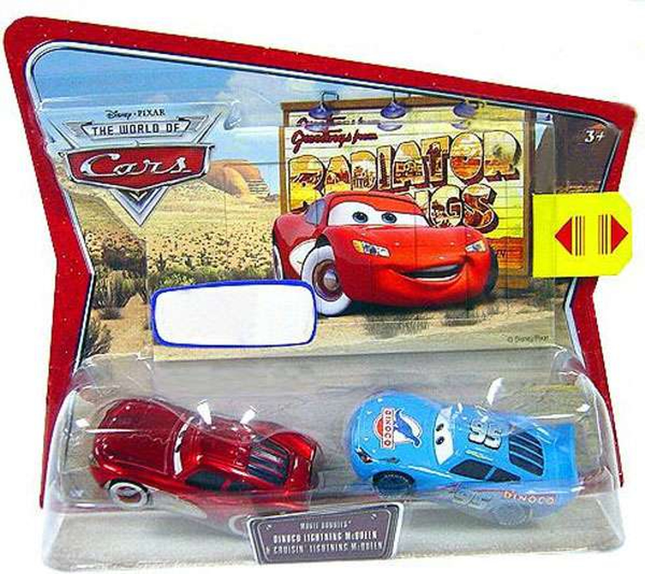 The World of Cars Movie Doubles Guido /& Ferrari Fan Guido Diecast Car 2-Pack
