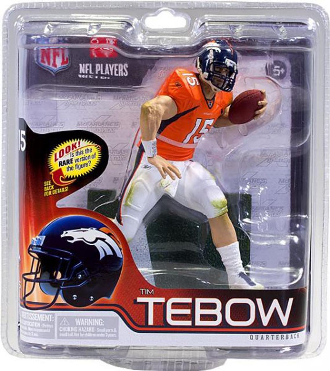 separation shoes f3a1c b7b2f McFarlane Toys NFL Denver Broncos Sports Picks Series 30 Tim Tebow Action  Figure [Orange Jersey]