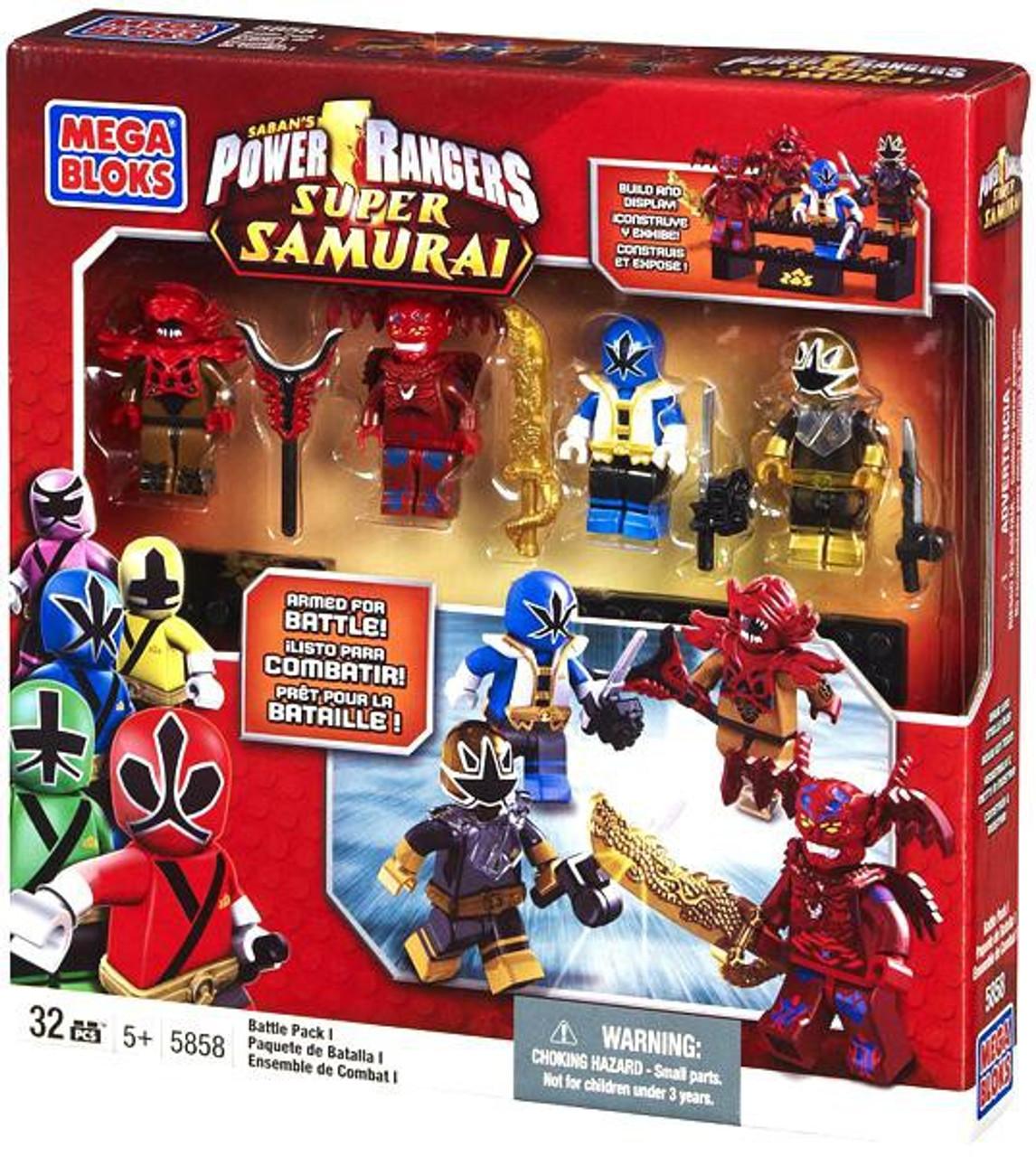 MEGA BLOKS POWER RANGERS SUPER SAMURAI TRANSLUCENT SAMURAI GOLD RANGER