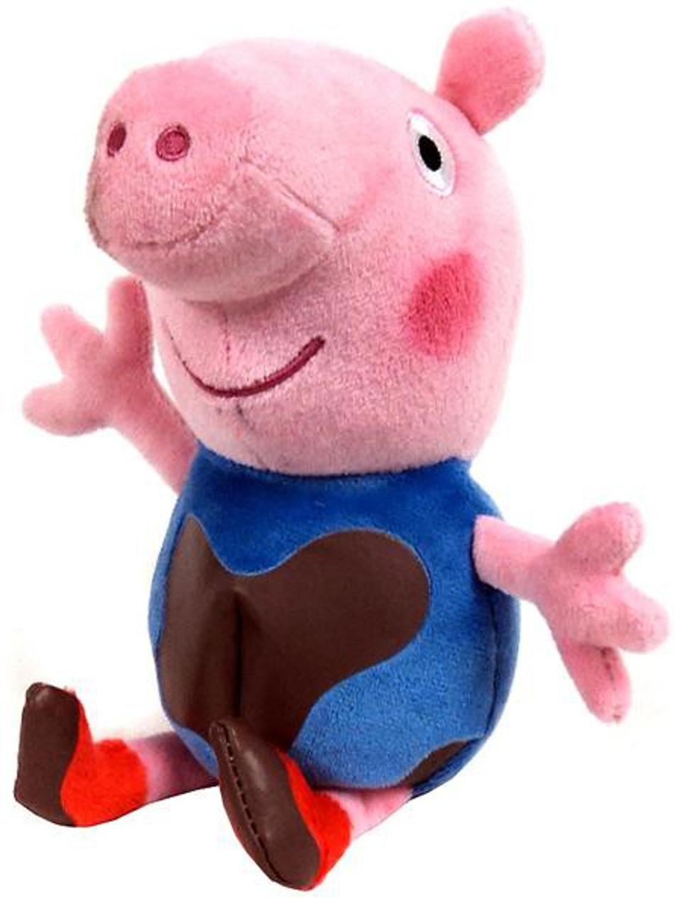 3829f81f4e1 Beanie Babies Peppa Pig Muddy Baby George Exclusive Beanie Plush Ty - ToyWiz