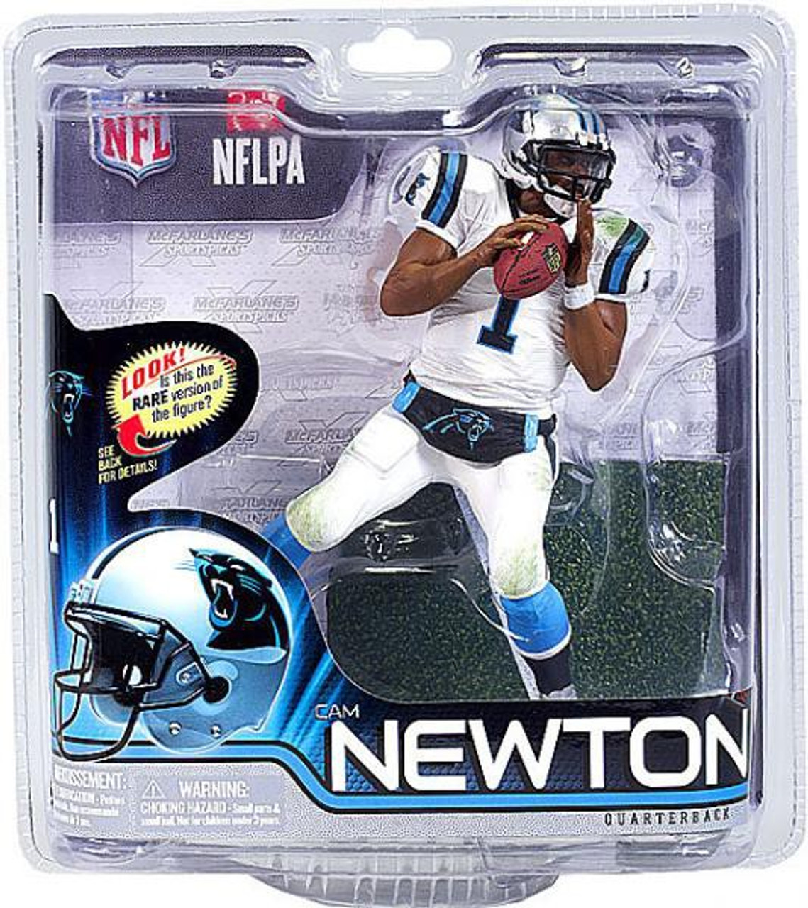1b9f167bc2e McFarlane Toys NFL Carolina Panthers Sports Picks Series 31 Cam Newton Action  Figure White Jersey - ToyWiz