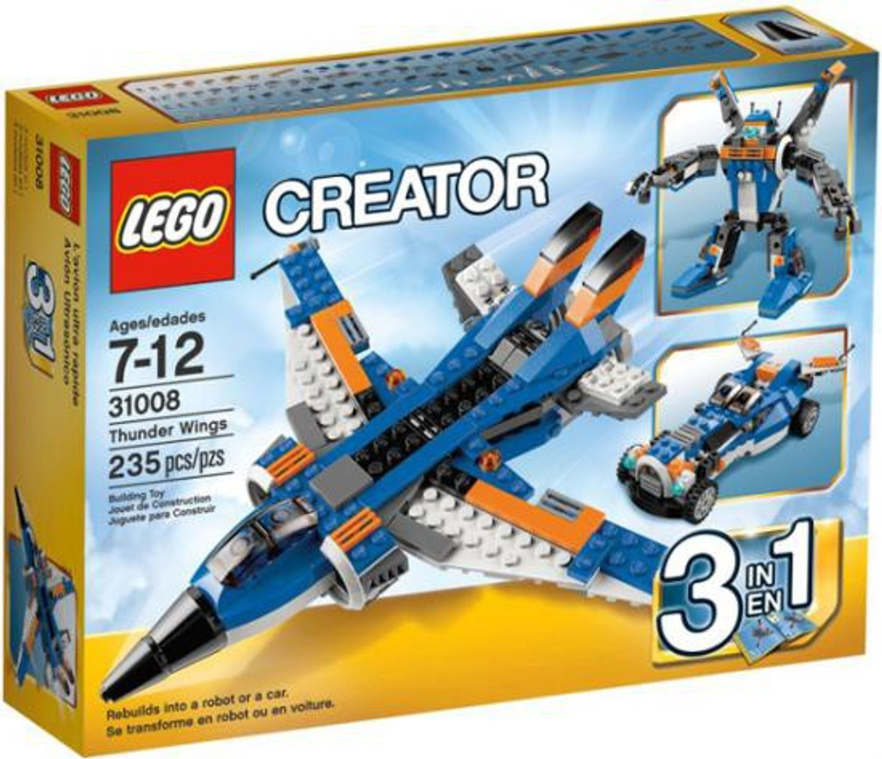 Lego Creator Thunder Wings Set 31008 Toywiz