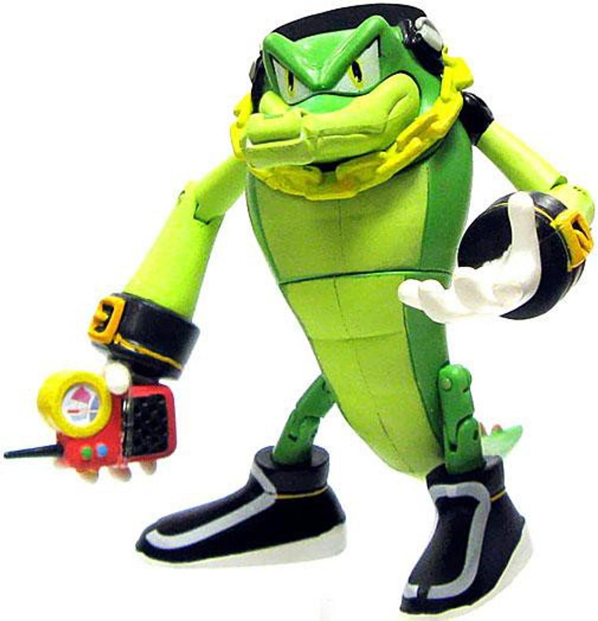 Sonic The Hedgehog Vector The Crocodile 3 5 Action Figure Holding Phone Loose Jazwares Toywiz