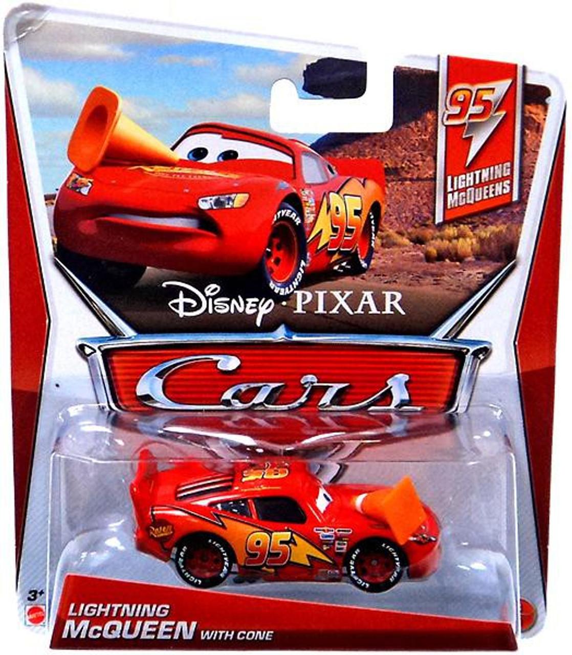 Disney Pixar Cars Series 3 Lightning Mcqueen With Cone 155 Diecast