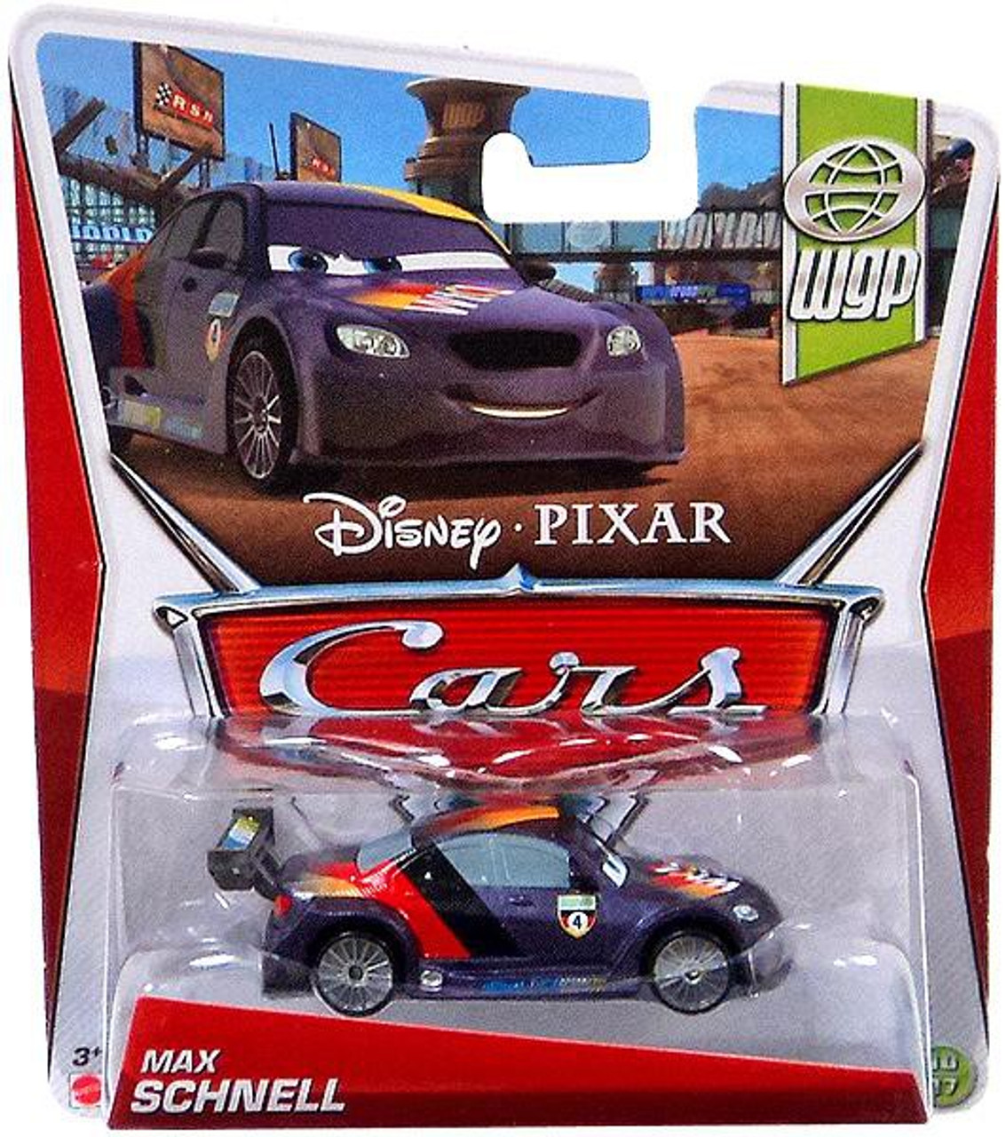 New Disney Pixar CARS 2 ~ MAX SCHNELL with BONUS MICRO DRIFTER Vehicle DieCast