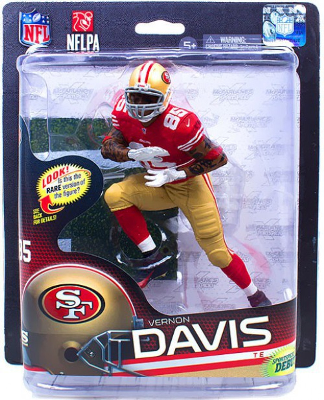 premium selection 5f103 fadf1 McFarlane Toys NFL San Francisco 49ers Sports Picks Series 32 Vernon Davis  Action Figure [Red Jersey]