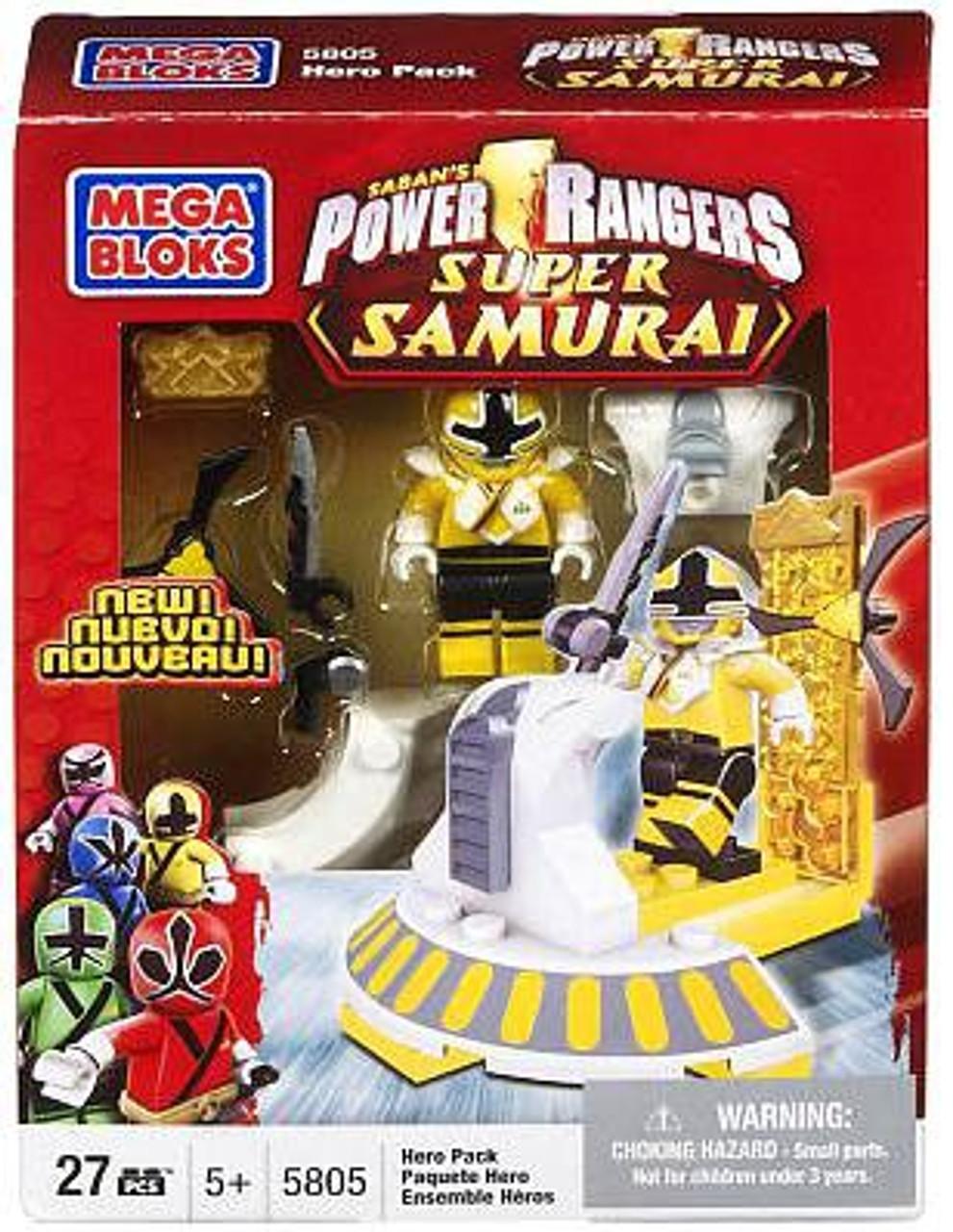 Mega Bloks RED RANGER HERO PACK Minifigure Power Rangers Super Samurai Boxed Set