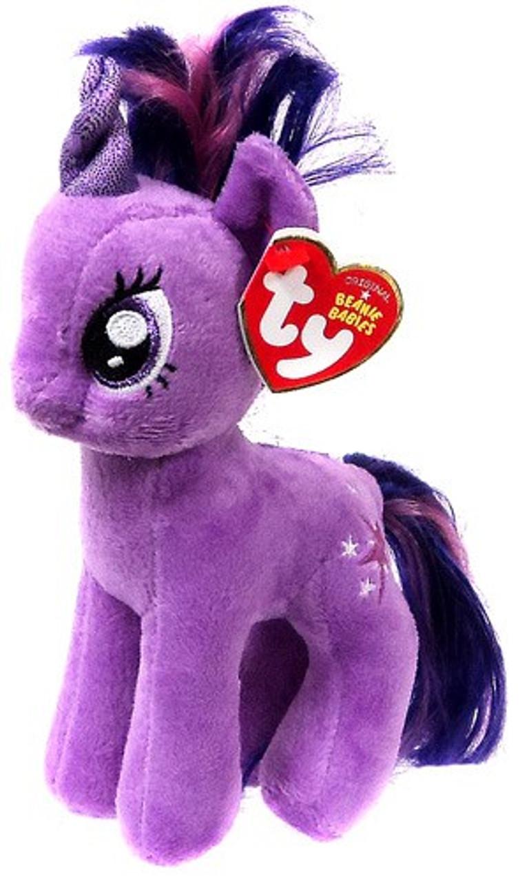 68d3dafcf34 My Little Pony Twilight Sparkle Beanie Baby Plush Ty - ToyWiz