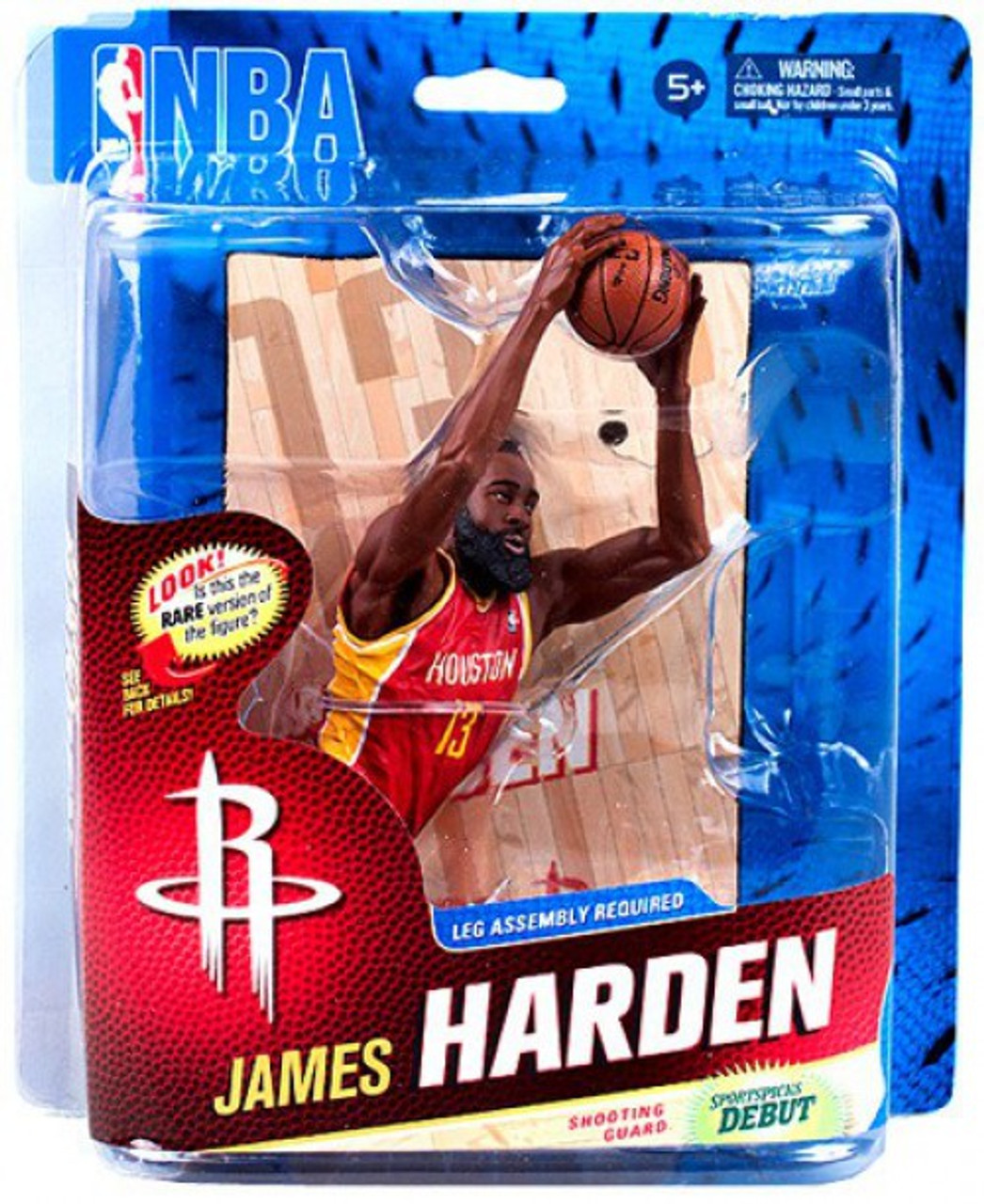 47cca582641 McFarlane Toys NBA Houston Rockets Sports Picks Series 23 James Harden  Action Figure  Red Jersey