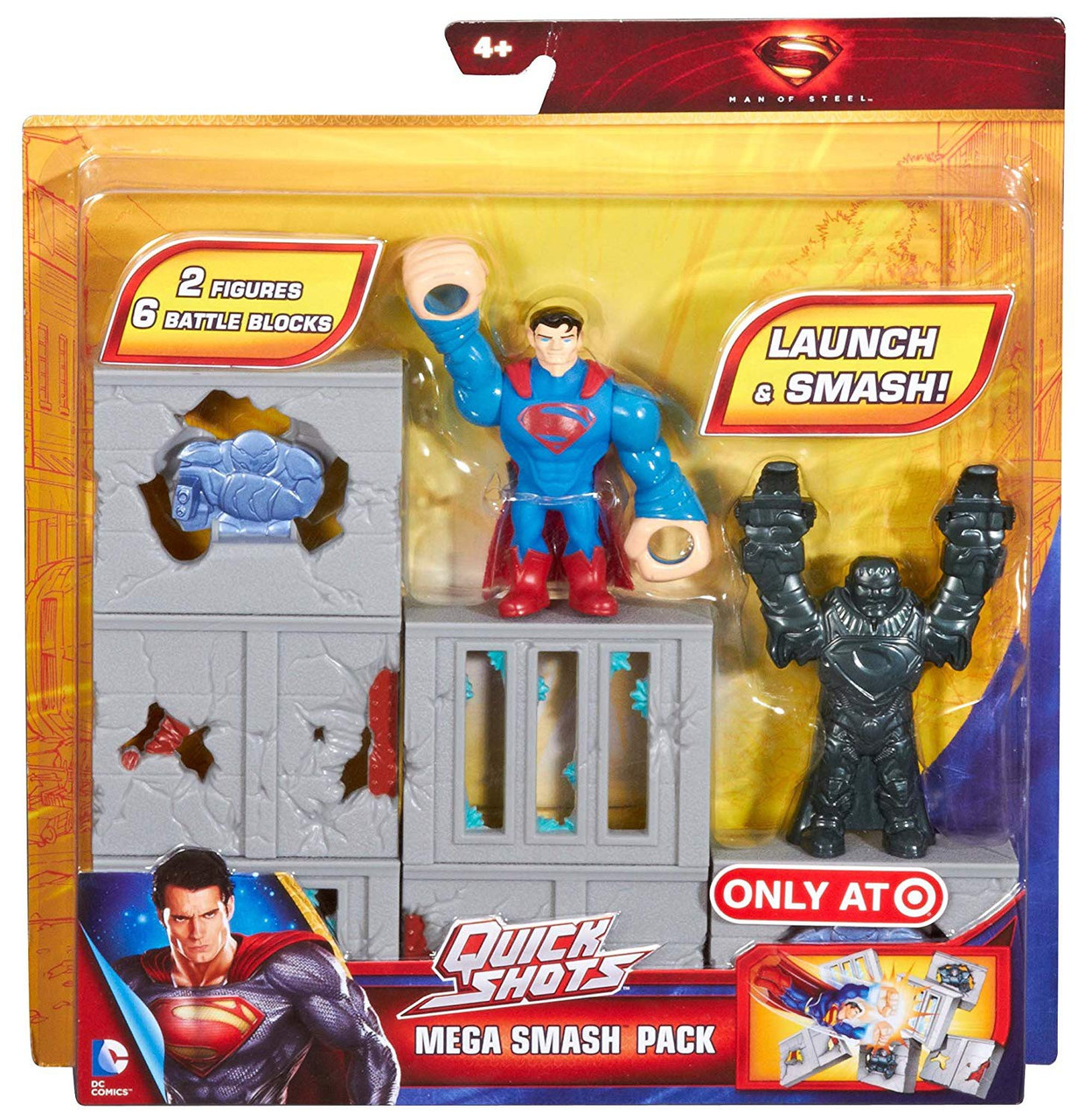 Superman Man of Steel Quickshots Battle for Metropolis Play Set *XMAS TOY GIFT*