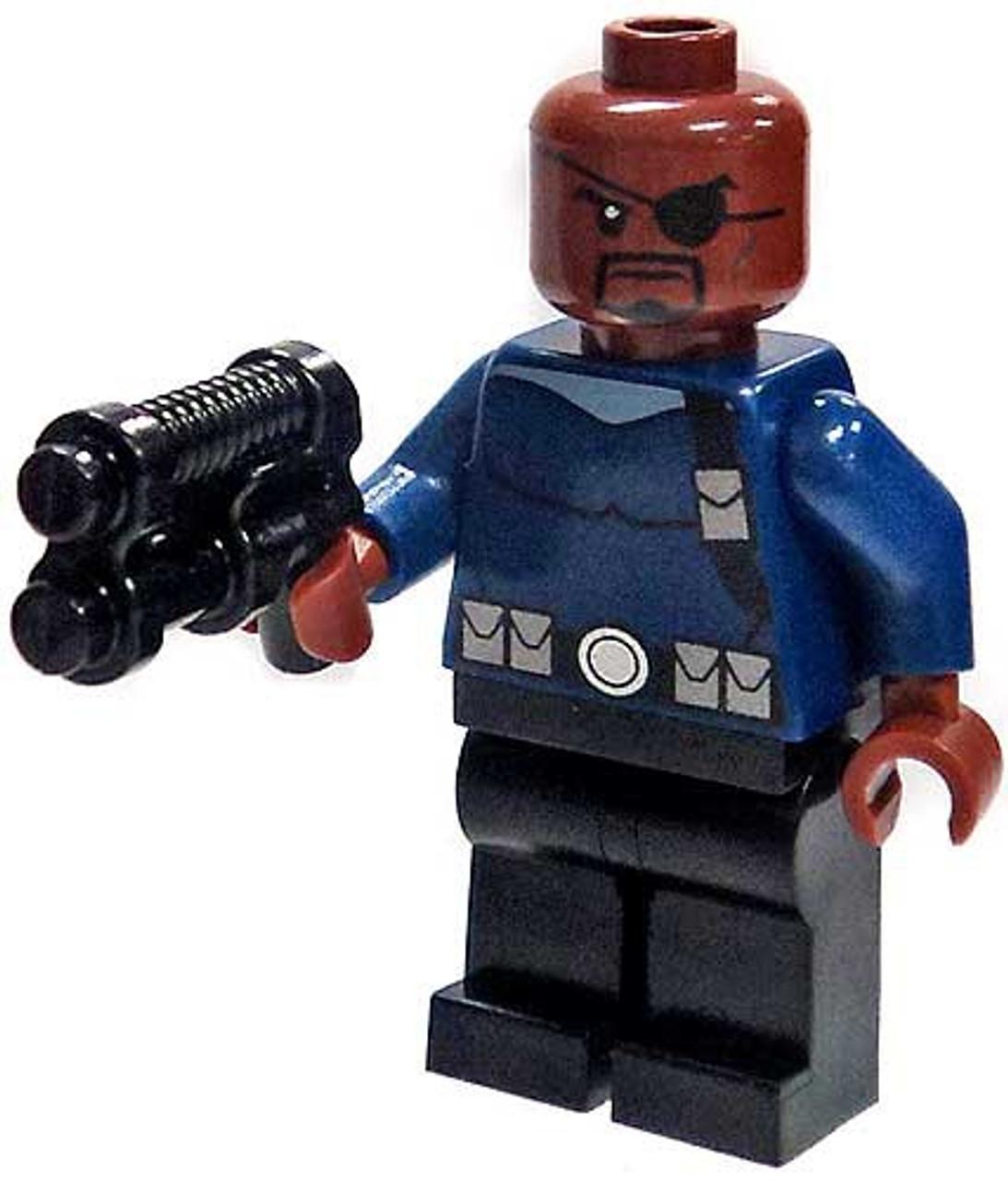 Marvel Comic Super Hero Squad The Avengers Shield Agent Nick Fury Loose Figure
