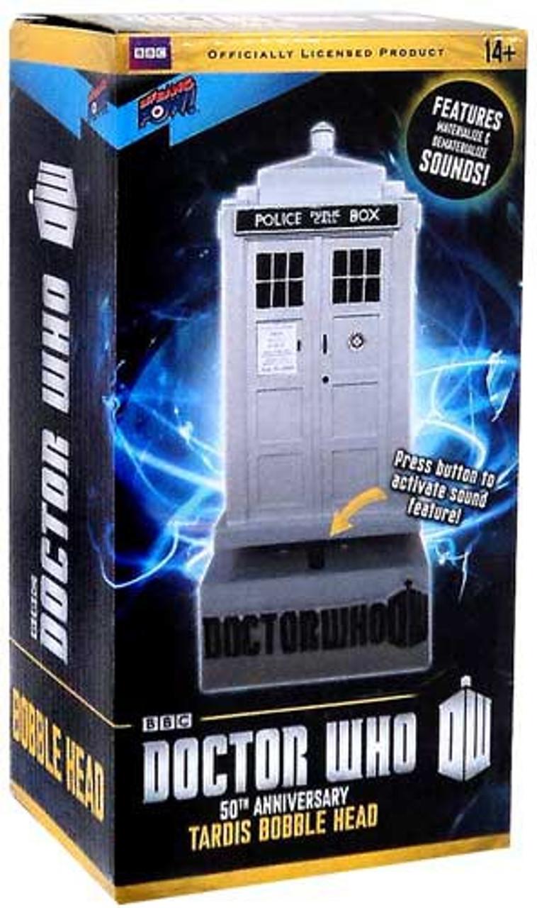 DOCTOR WHO 50TH ANNIVERSARY TARDIS MONITOR MATE BOBBLE FIGURE BBC BIF BANG POW