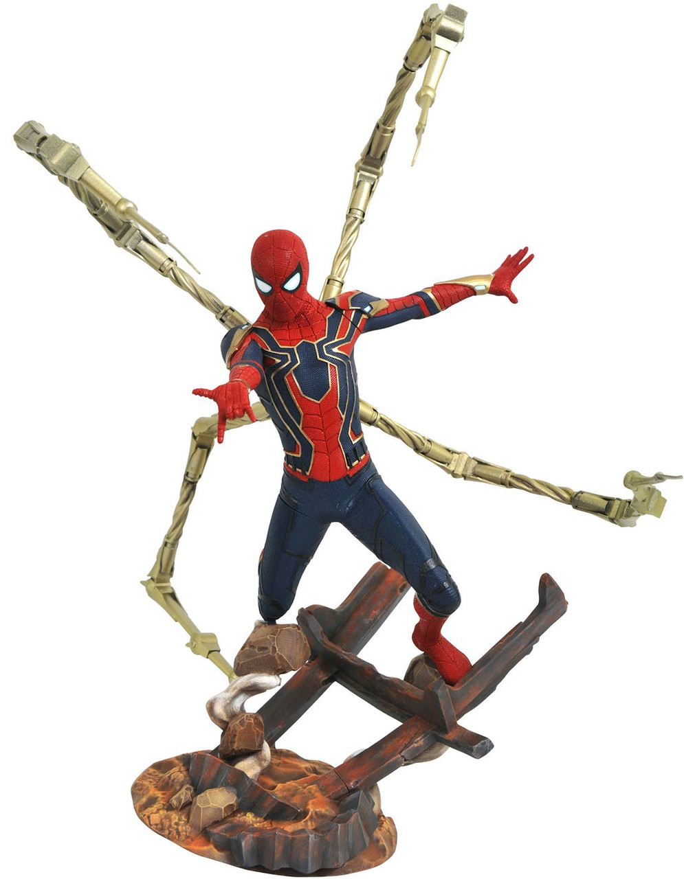 Marvel Avengers Infinity War Iron Spider With Led Light Pvc Action Figure Collectible Model Toy Toys & Hobbies