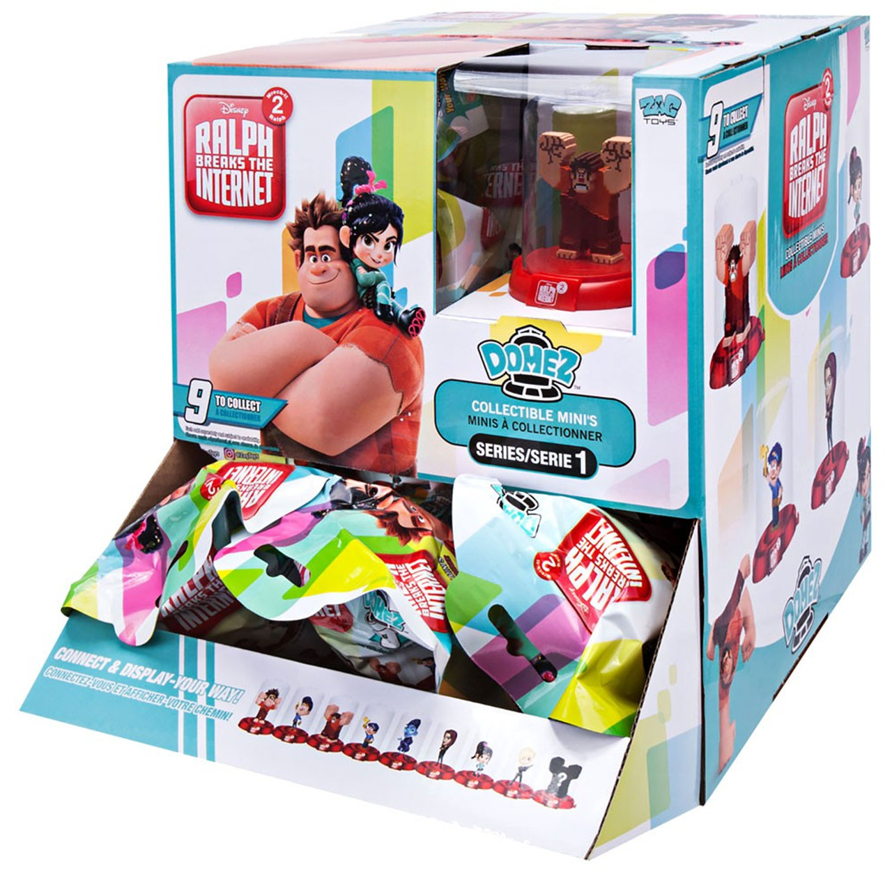 OPENED LOT OF 5 DIFFERENT DOMEZ Ralph Breaks the Internet Series 2 Domez.