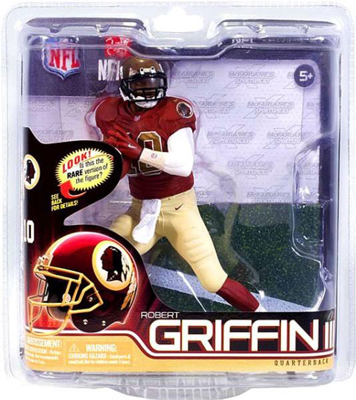 detailed look 21e2b 84a9e McFarlane Toys NFL Washington Redskins Sports Picks Series 31 Robert  Griffin III Exclusive Action Figure [Throwback Jersey]