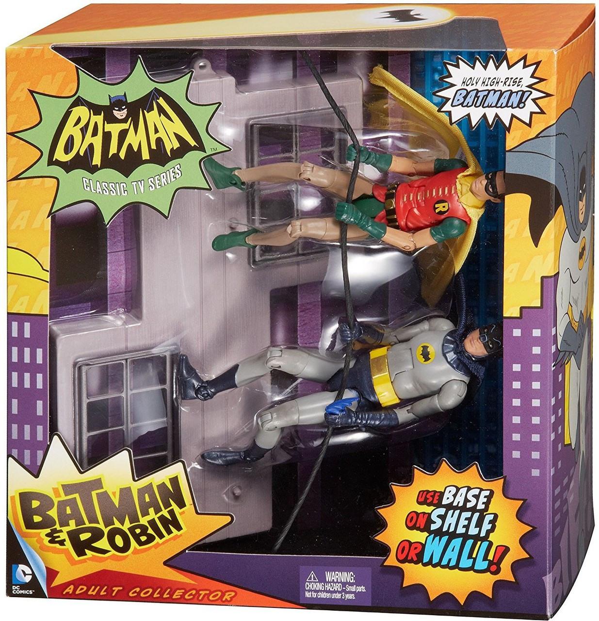 1966 Tv Series Tv Moments Batman Robin Action Figure 2 Pack