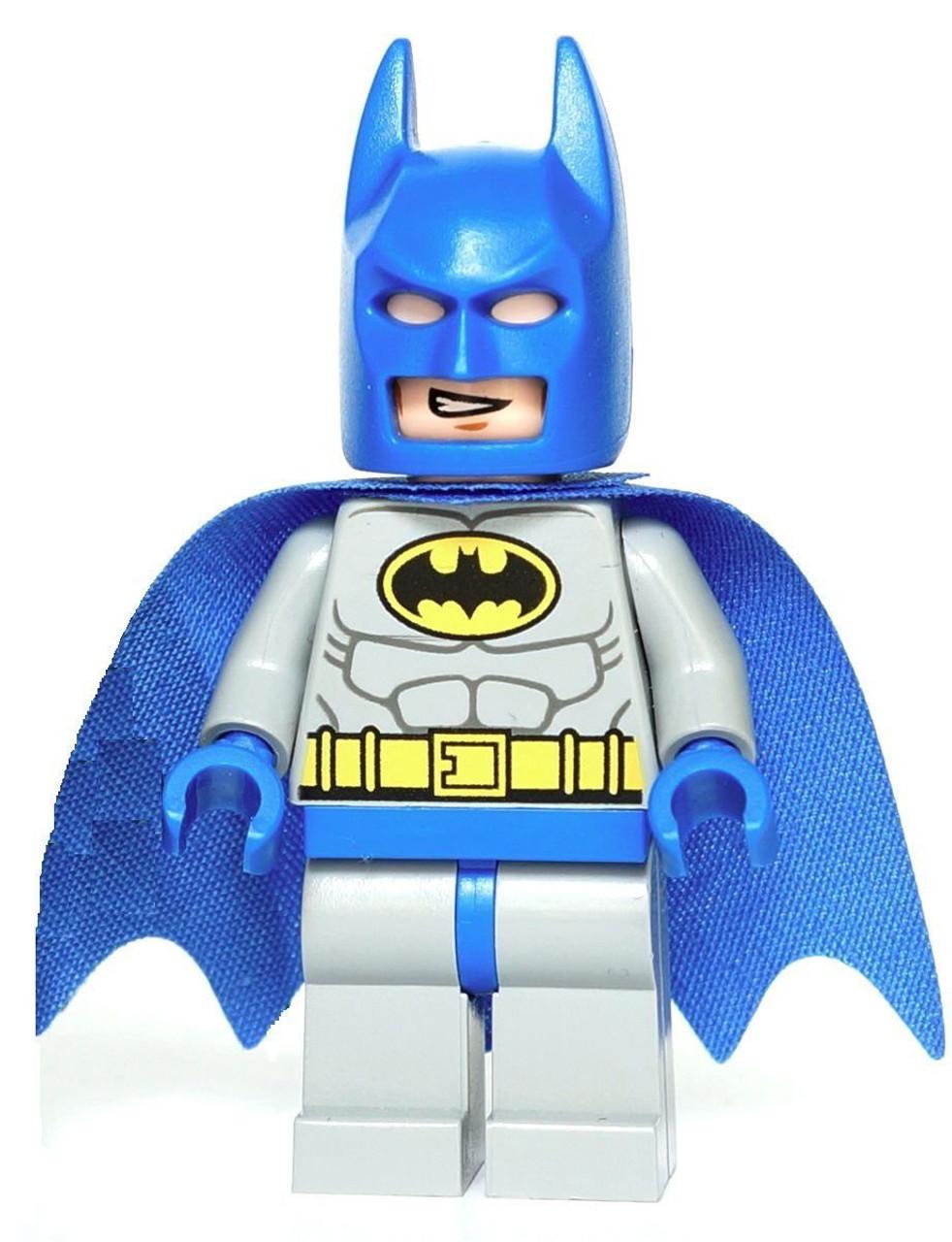 LEGO DC Batman Minifigure Classic Blue Gray Loose - ToyWiz