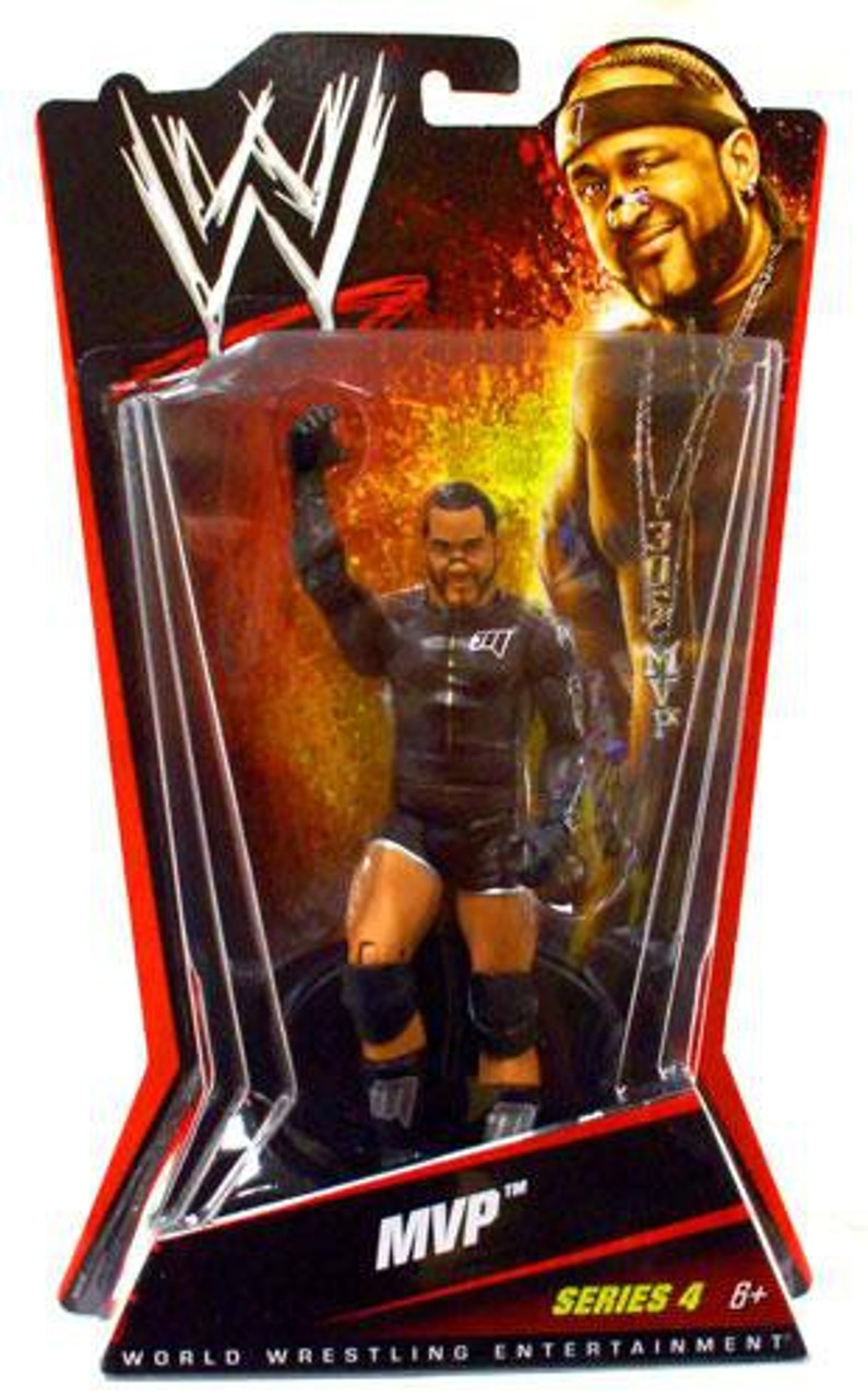 Rare WWE TNA MVP MATTEL BASIC SERIES 4 Classic Wrestling Figure