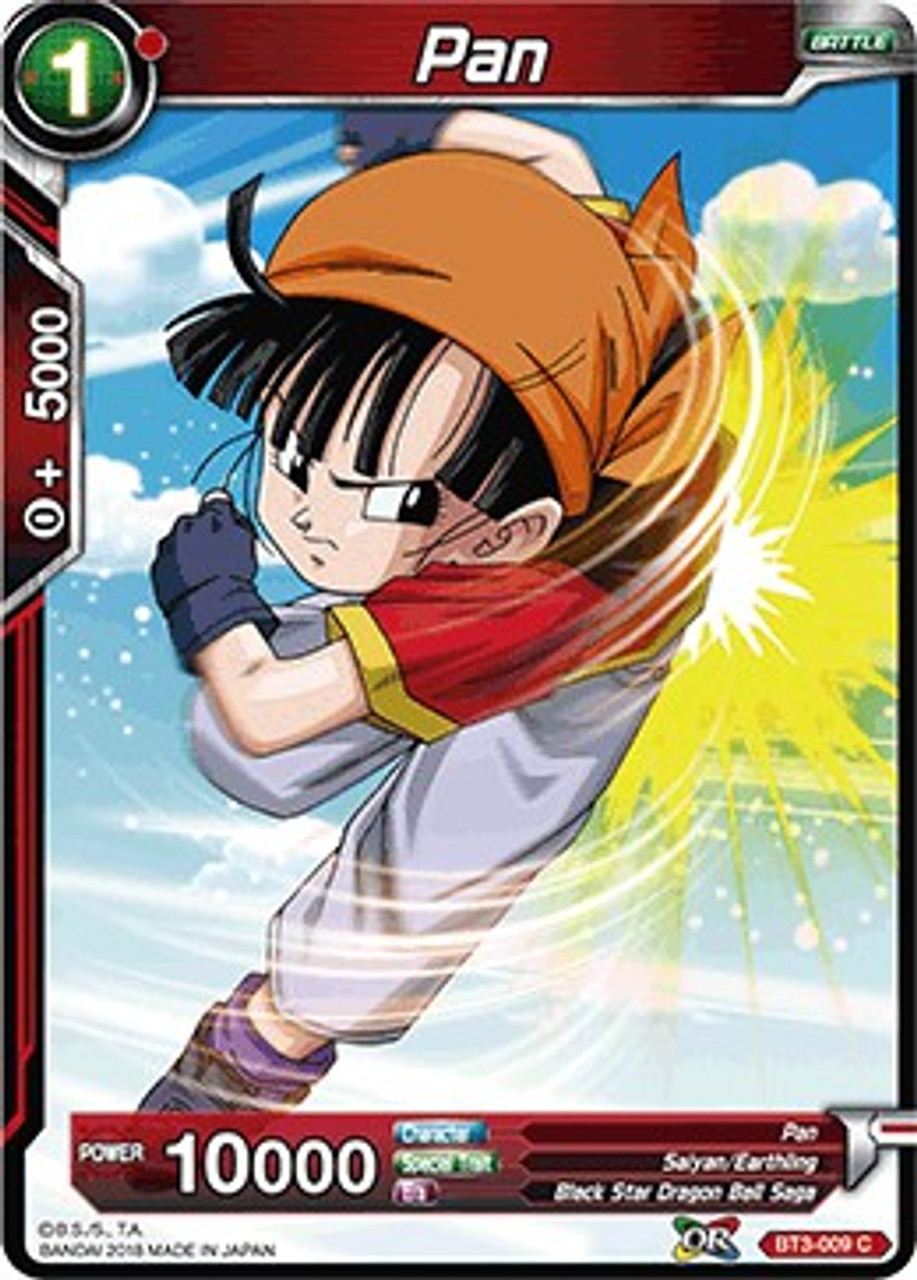 Ready to Fight Pan BT3-001 Holo Foil Rare Card Dragon Ball Super CCG Mint