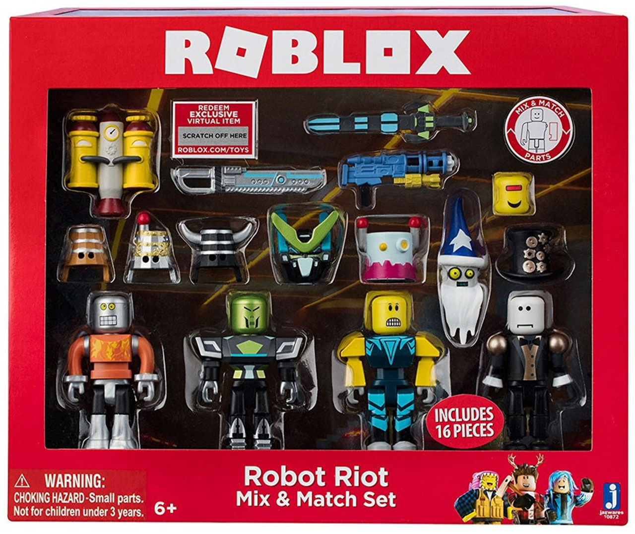 Roblox Mix Match Robot Riot Figure 4 Pack Set Jazwares Toywiz