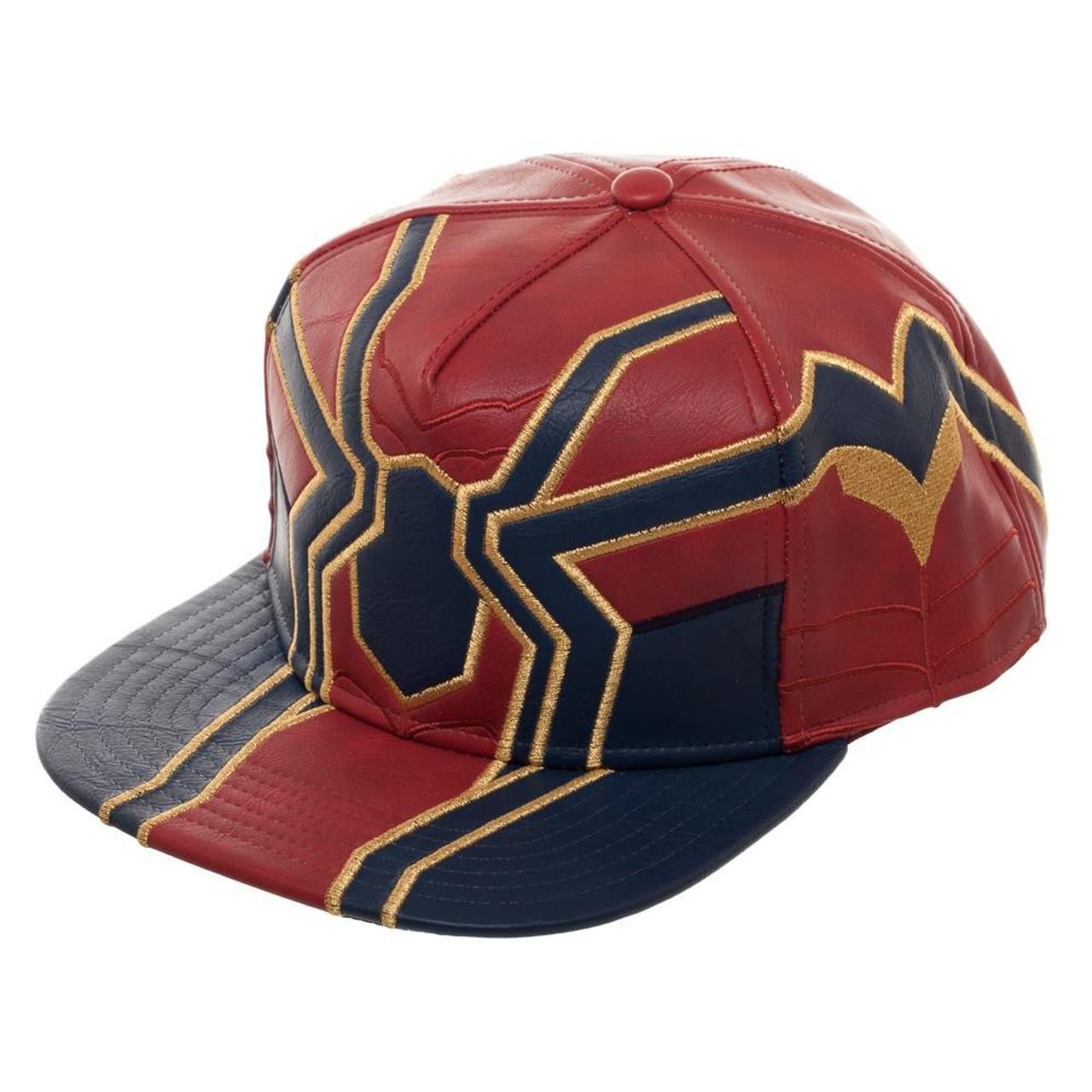 bb52abd2d Marvel Avengers Infinity War Iron Spider Suit Up PU Snapback Cap