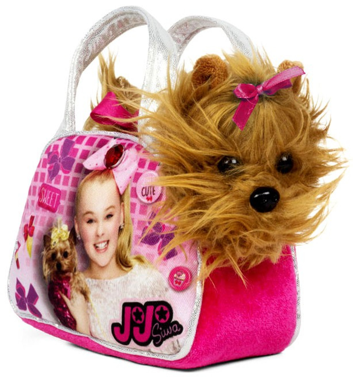 Nickelodeon Jojo Siwa Sequin Bag With Plush Bow Bow Just Play Toywiz