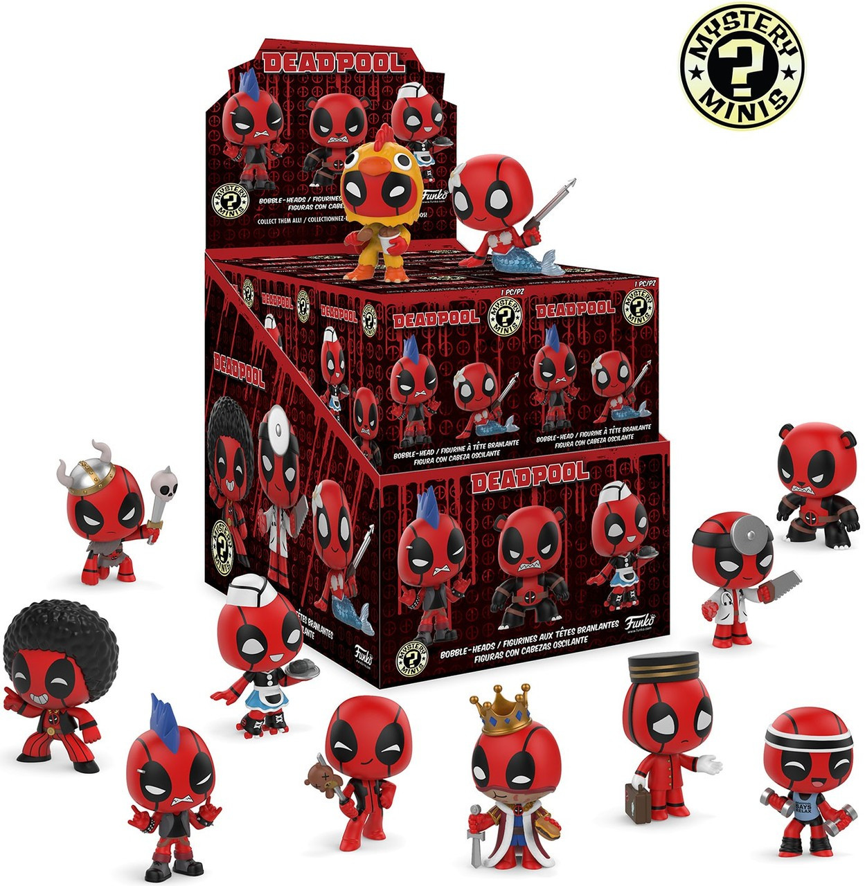 Funko Marvel Mystery Minis Deadpool Mystery Box 12 Packs Toywiz