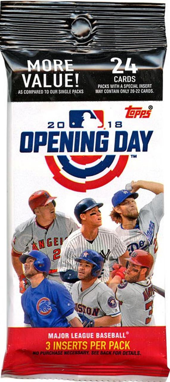 Mlb 2018 Opening Day Baseball Trading Card Value Pack Topps Toywiz
