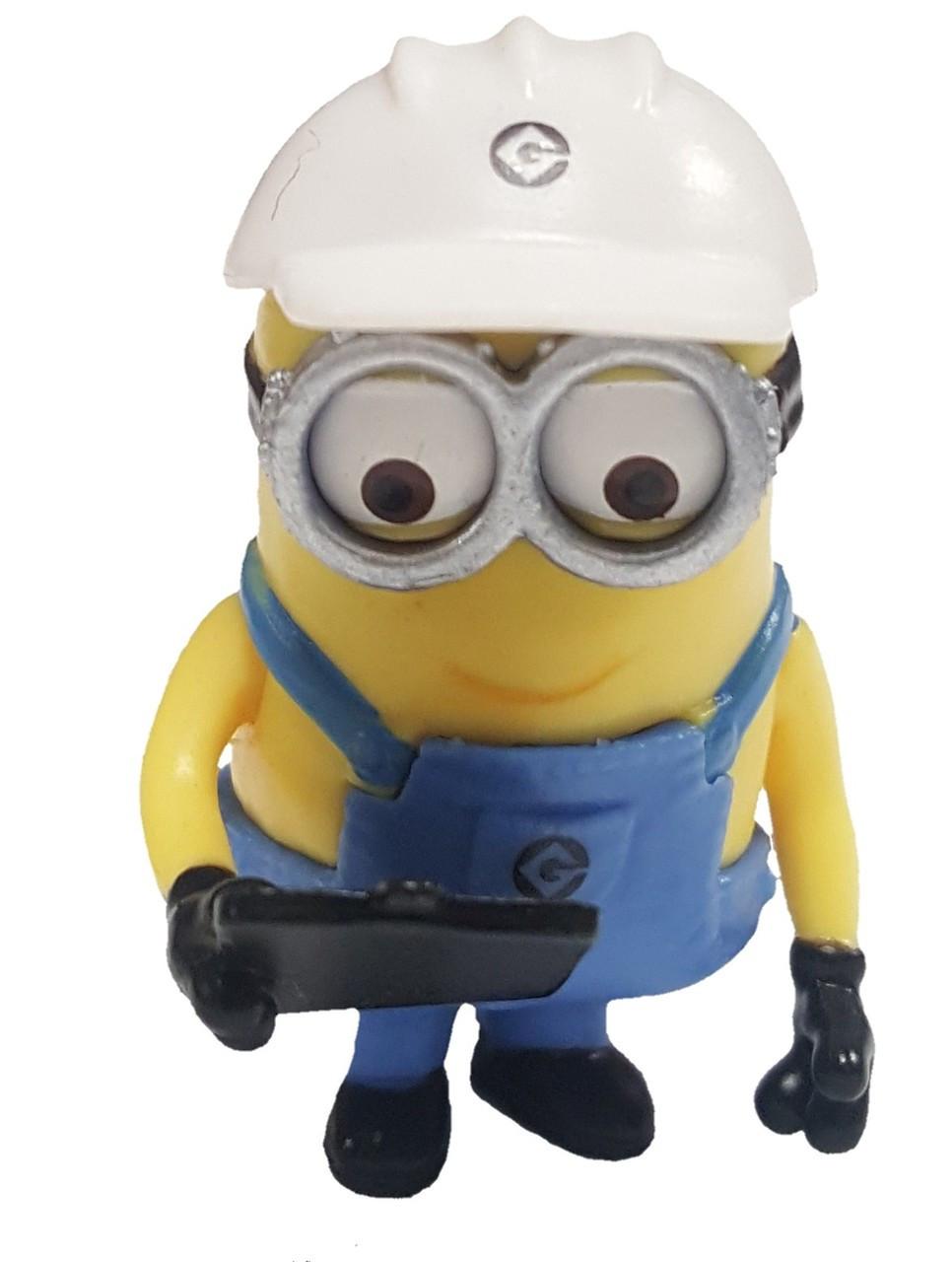 Despicable Me 2 Minion Surprise Minion Worker 2 Pvc Figure Loose