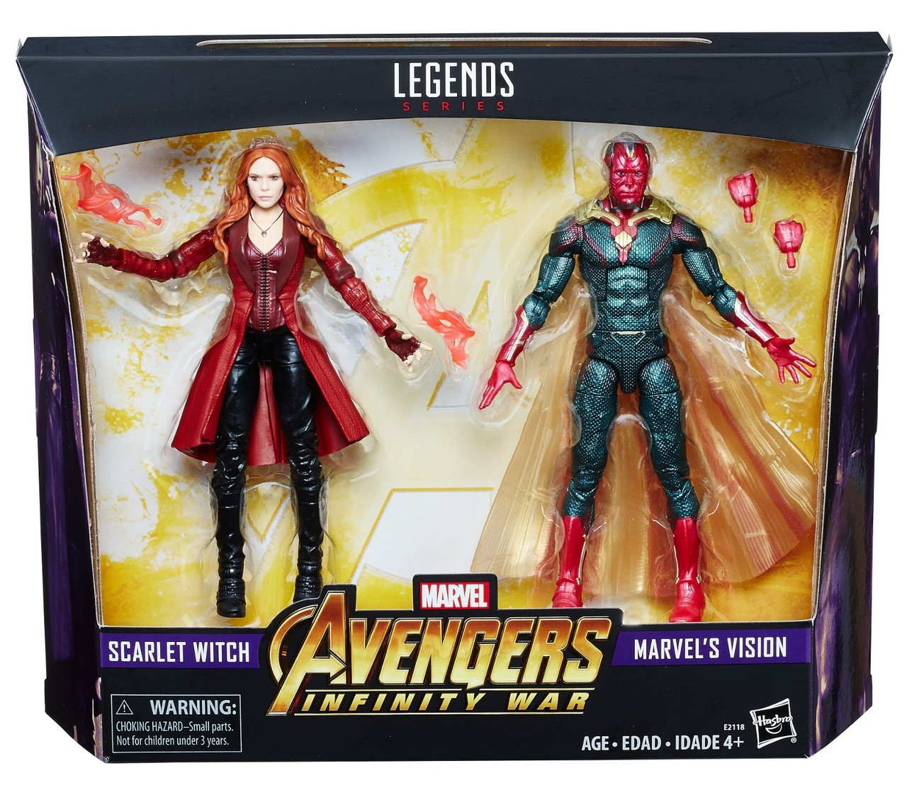 ad9294125d Marvel Avengers Infinity War Scarlet Witch Vision 6 Action Figure 2-Pack  Hasbro Toys - ToyWiz