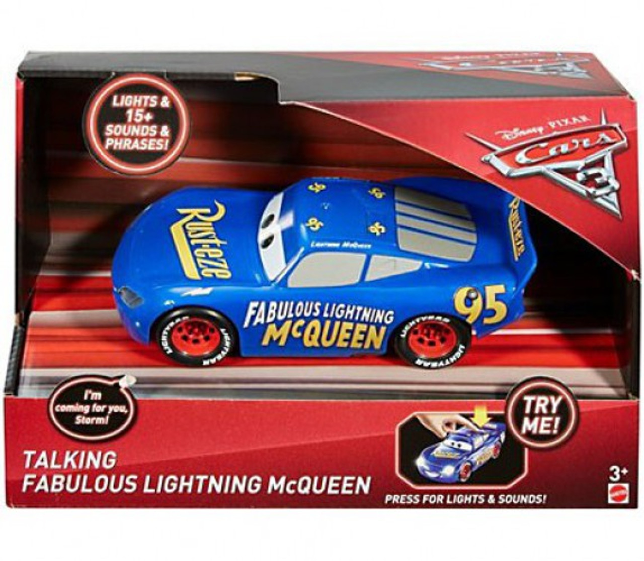 Disney Pixar Cars Cars 3 Fabulous Lightning Mcqueen 121 Talking