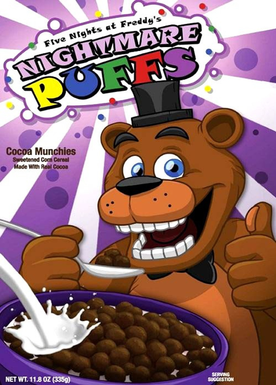 Fnaf Comics En Español five nights at freddy's nightmare puffs exclusive breakfast cereal
