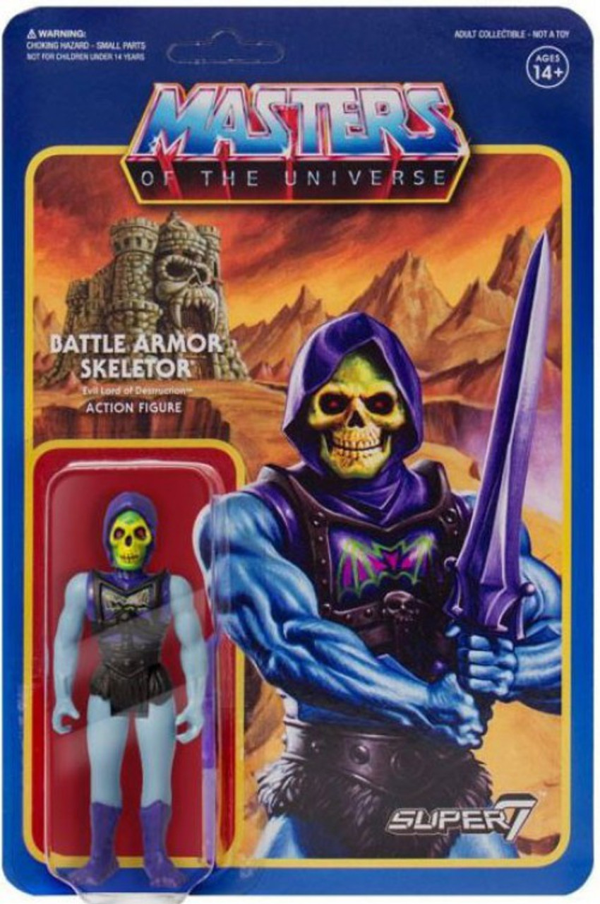 Reaction Masters Of The Universe Battle Armor Skeletor 375 Action