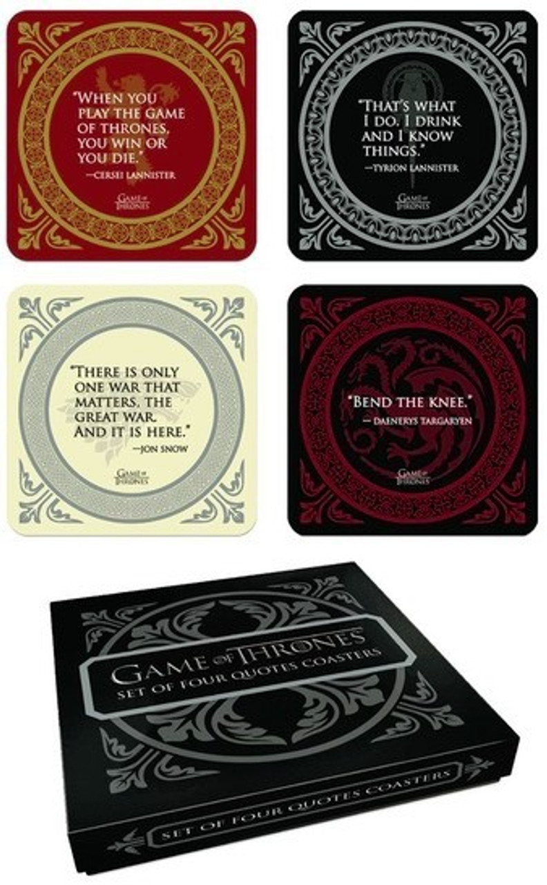 Genuine HBO Game of Thrones Stark House Sigil Single Coaster Drinks Mat Direwolf