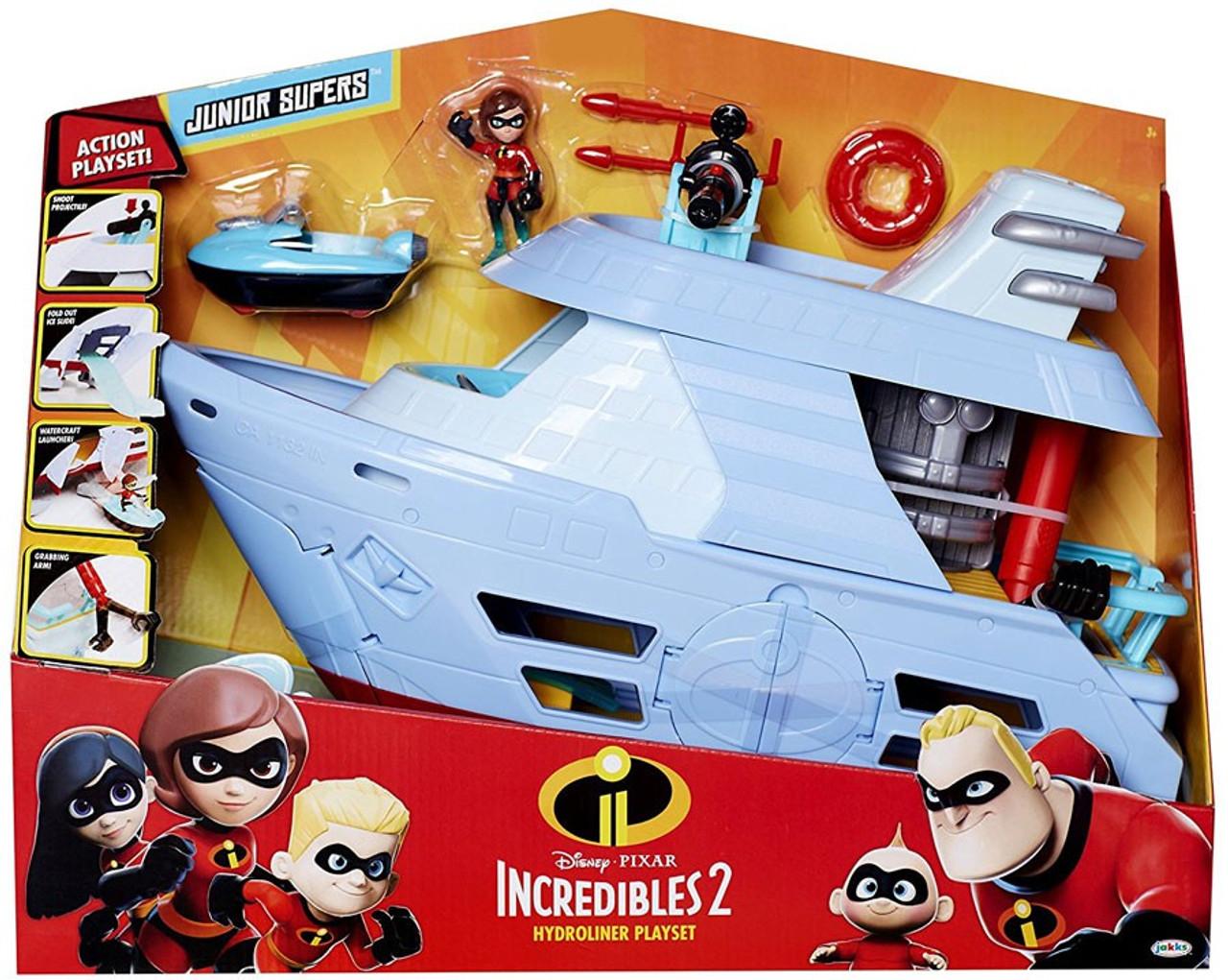 e54e0c41581 Disney Pixar Incredibles 2 Junior Supers Hydroliner Playset Jakks ...