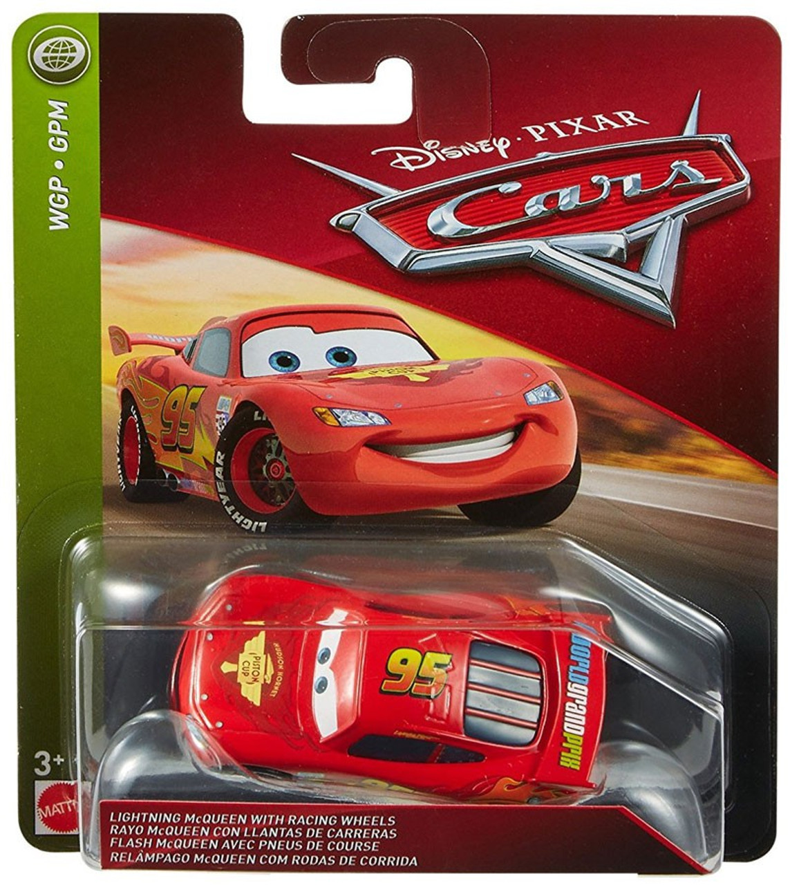 Disney Pixar Cars Cars 3 Wgp Lightning Mcqueen With Racing Wheels Diecast Car