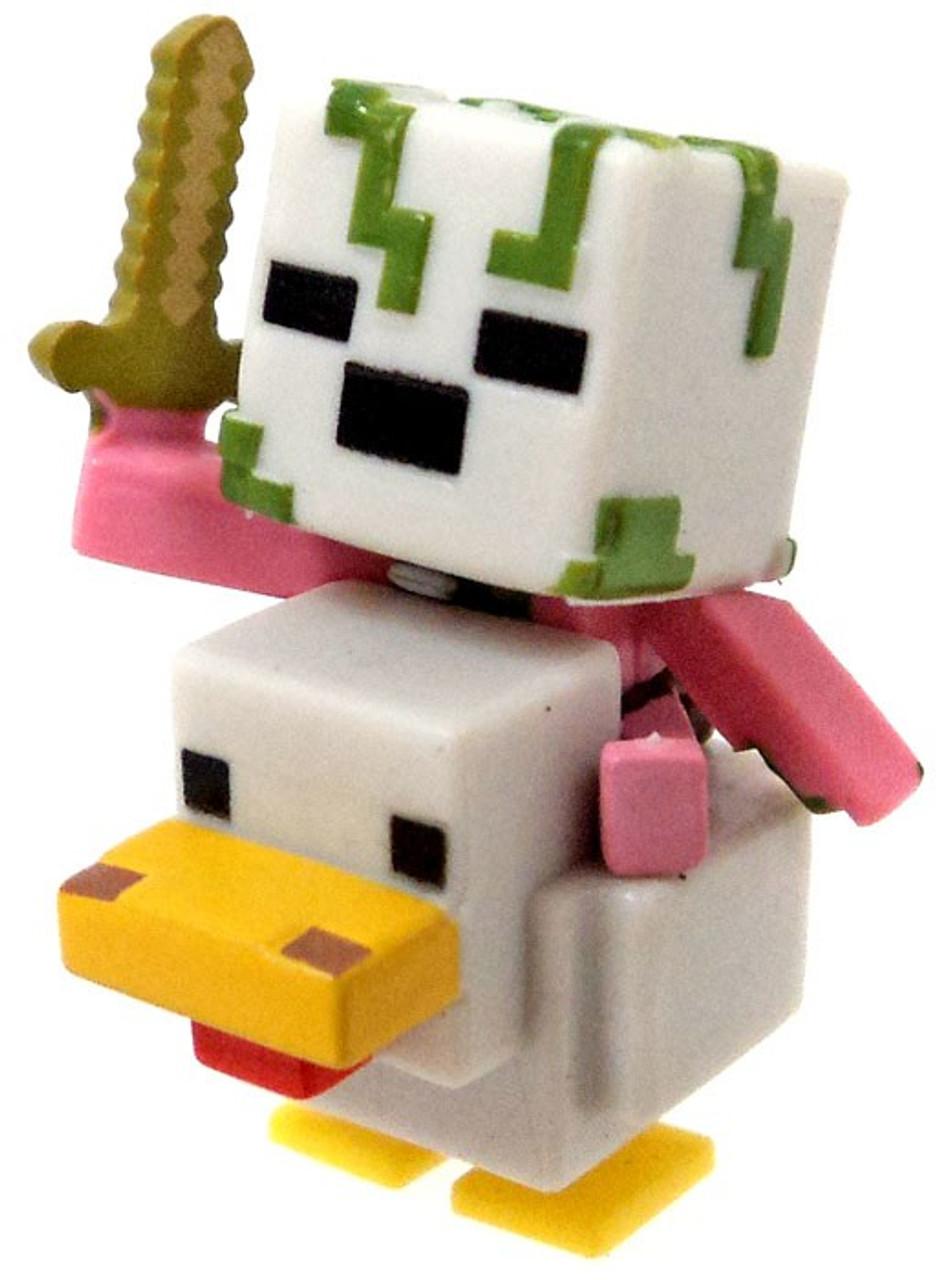 Minecraft Wood Series 12 Zombie Pigman Chicken Jockey Minifigure