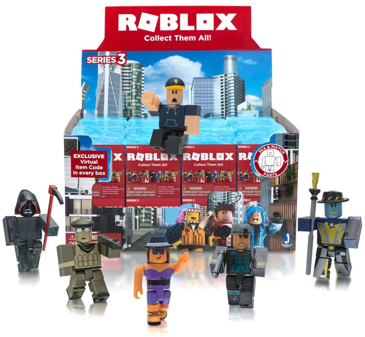 Roblox Series 3 Mystery Box [Blue Cube, 24 Packs]