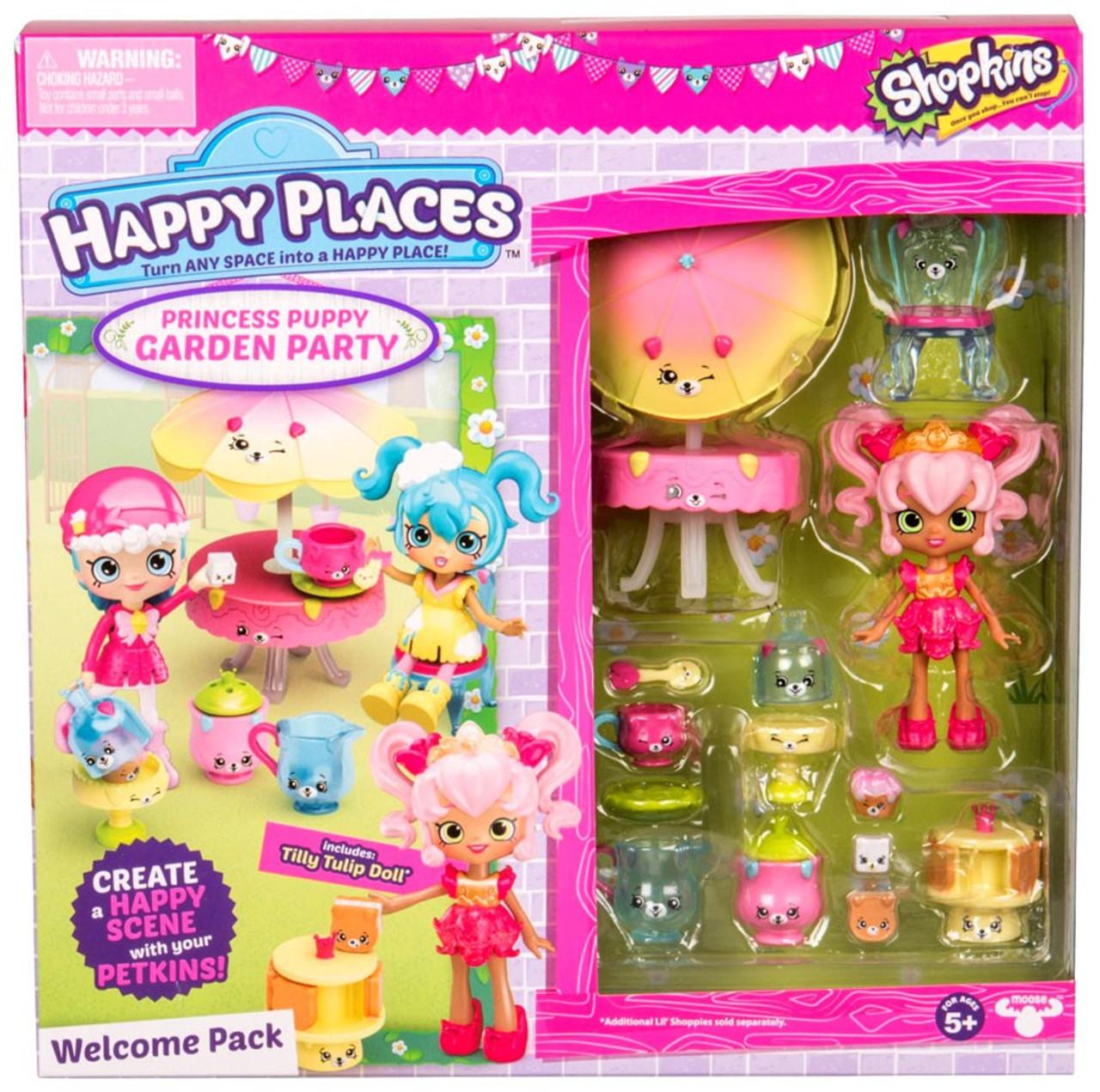 Princess Puppy garden Party Moose Shopkins Happy Places Lil Shoppie Pack Bella Bliss
