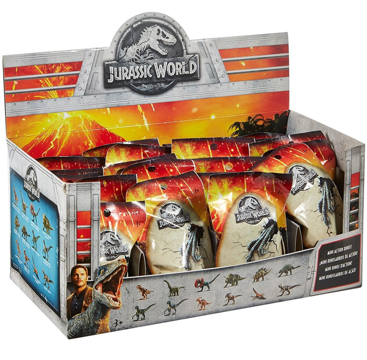 Mini In De Box.Jurassic World Matchbox Mini Dinosaur Figure 2 Mystery Box 24 Packs