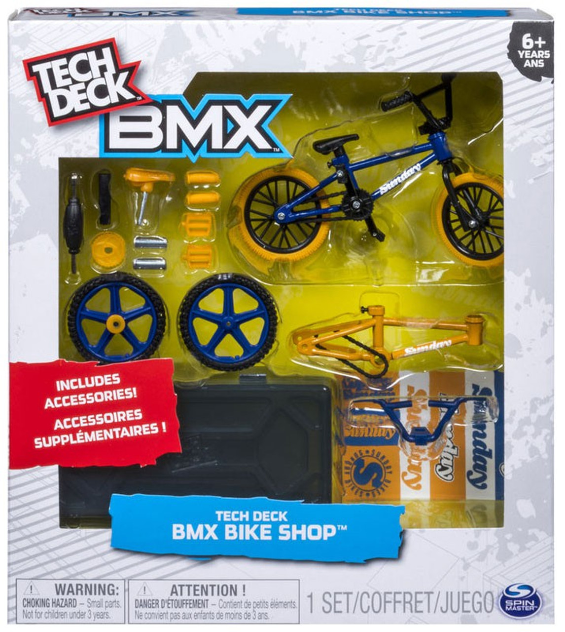 Tech Deck BMX Mini Figure 2-Pack Sunday Bikes Blue Yellow Exclusive Spin Master - ToyWiz