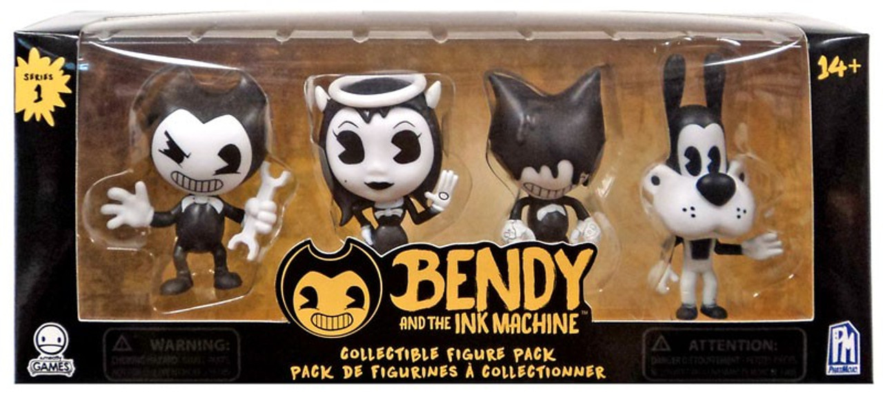 Bendy and the Ink Machine Bendy Ink Bendy /& Boris Mini Figure 4-Pack Alice