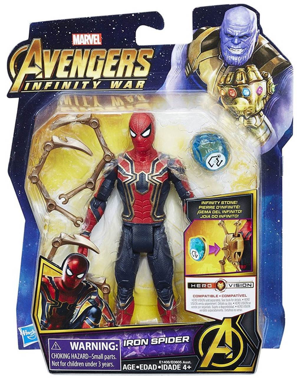 "US Marvel Infinity War Avengers Iron Spider Spiderman 6/"" Loose Action Figure"